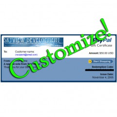 Customizing PayPal Gift Certificates