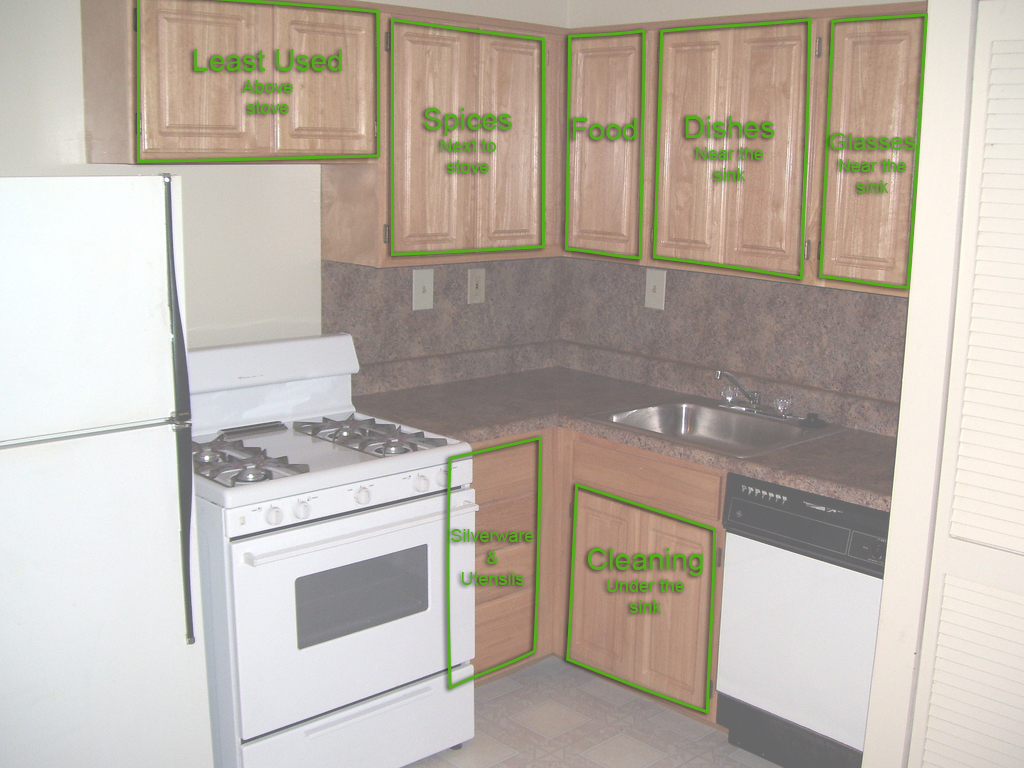 apartment kitchen storage house furniture