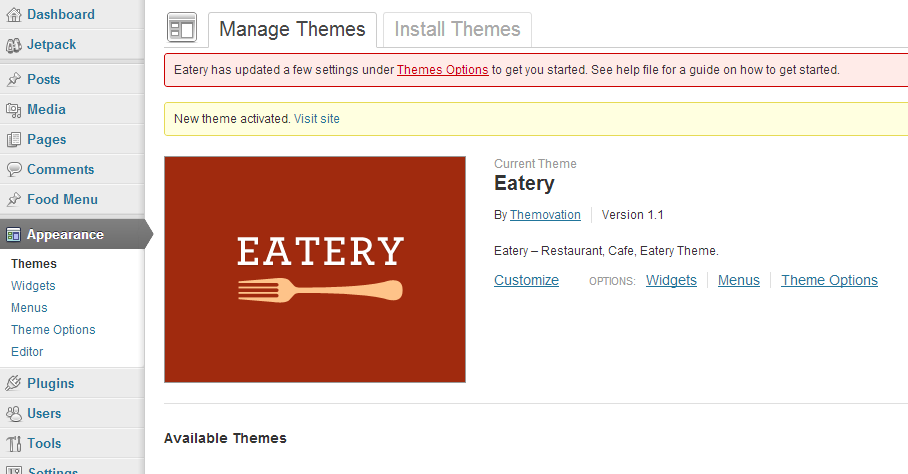 WP-Theme-ThemeOptions